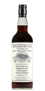 Springbank 15 Year Old 1995 Private Bottling