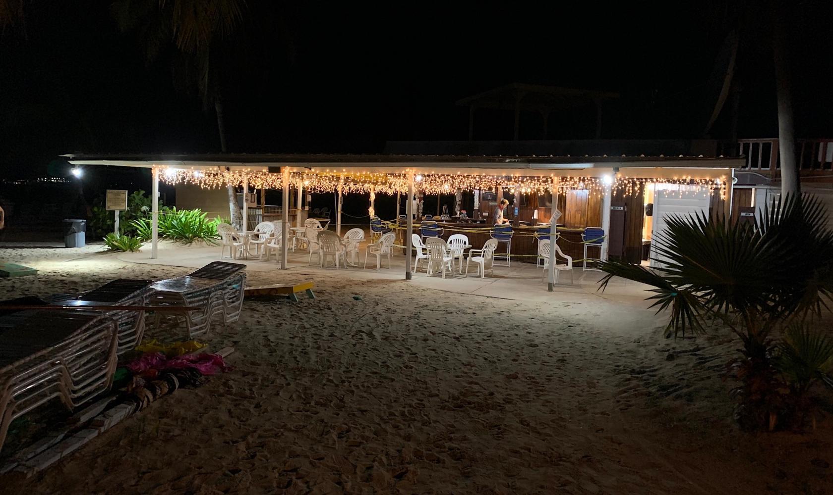 The Beach Bar at night
