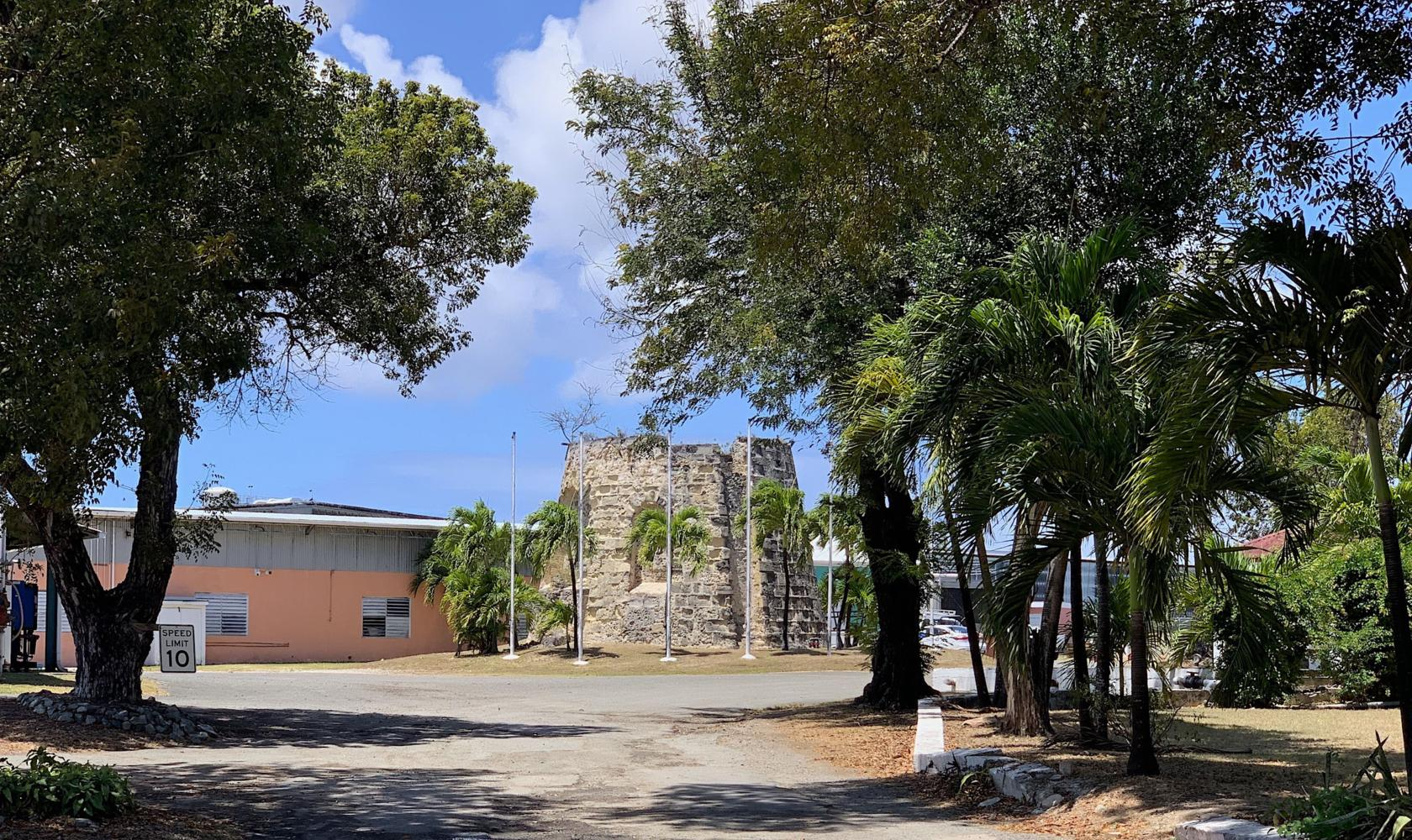 Cruzan Distillery - ruins of Sugar Mill