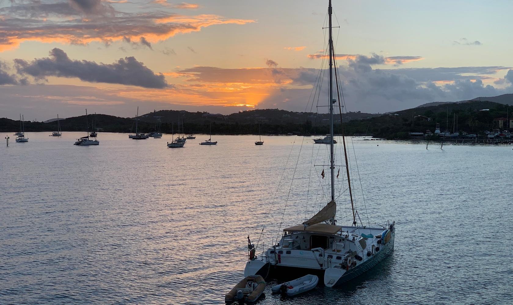 Sunrise on Christiansted Bay