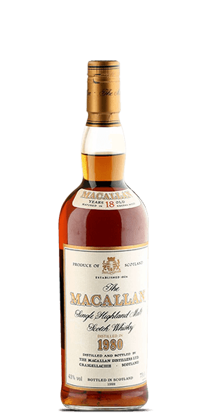 The Macallan 18 Year Old 1980 Vintage Label