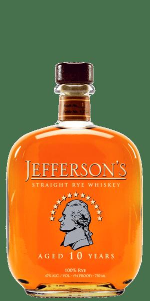 Jefferson's 10 Year Old Straight Rye Whiskey
