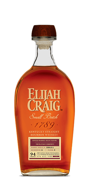 Elijah Craig Small Batch Single Barrel Flaviar Community Selection