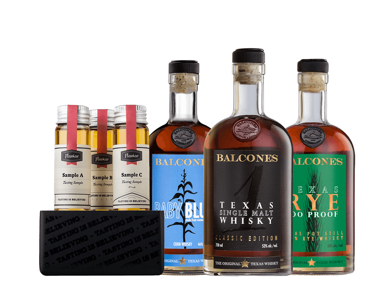 Balcones Whiskey Flight
