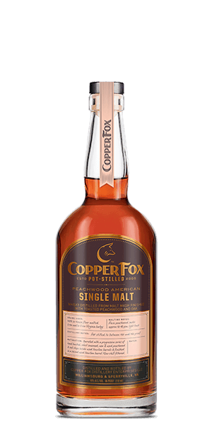 Copper Fox Peachwood American Single Malt Whisky