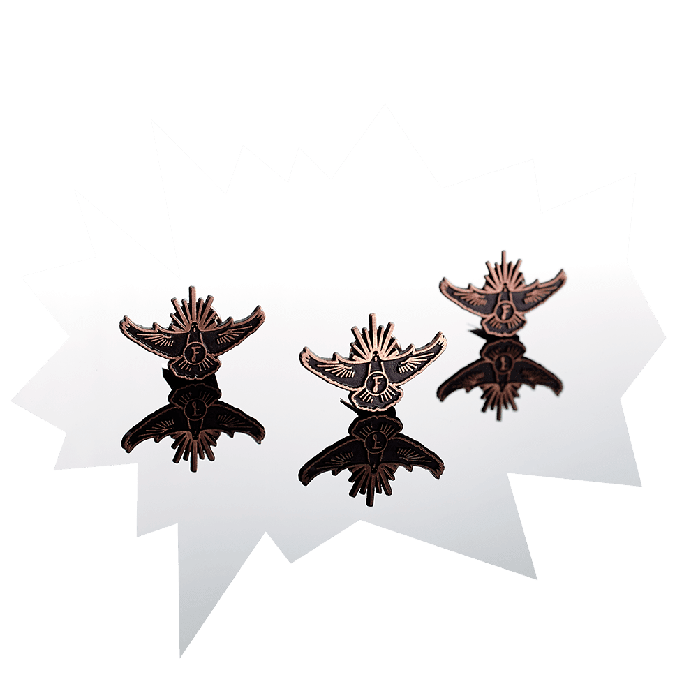 3 Flaviar Brethren pins