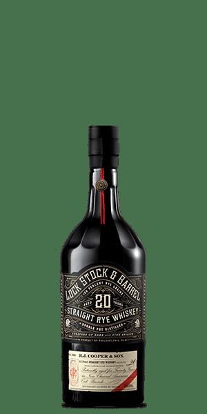 Lock Stock & Barrel 20 Year Old Straight Rye Whiskey