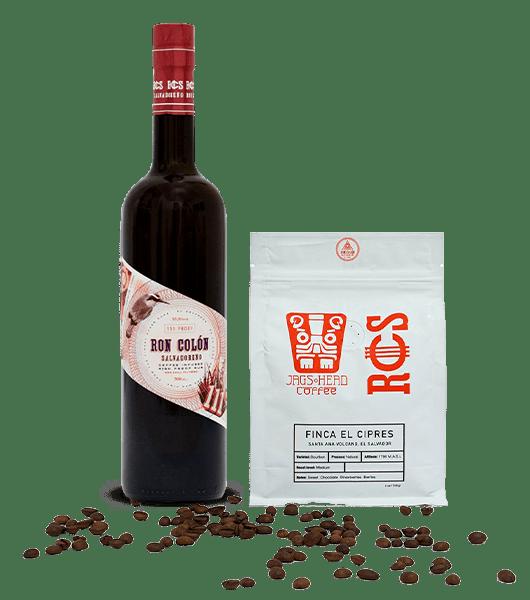 Ron Colón Salvadoreño Coffee Infused Rum + Coffee Bag Bundle