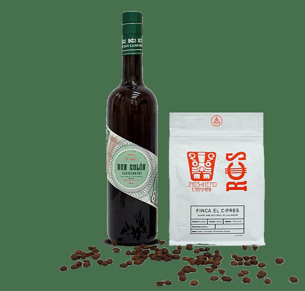 Ron Colón Salvadoreño Coffee Infused Rum Green + Estate Coffee Bundle